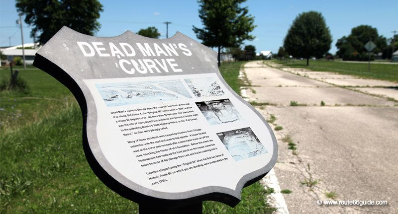 Dead man's Curve in Towanda IL
