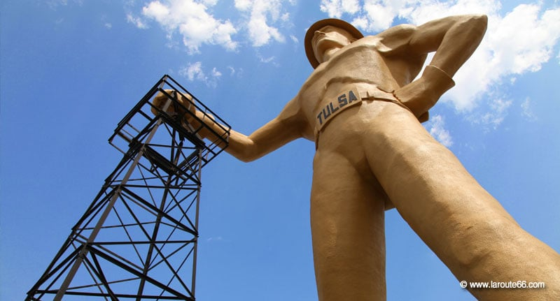 The Golden Driller in Tulsa, Oklahoma