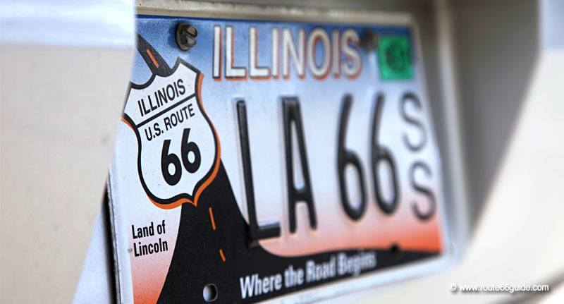 Illinois Route 66 license plate