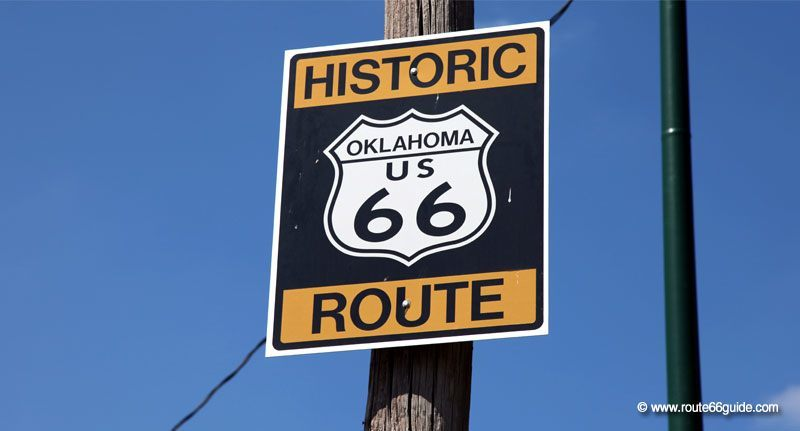 Route 66 in Commerce, Oklahoma