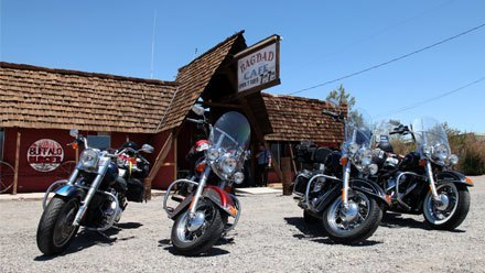 Route 66 on motorcycle