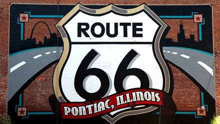 Route 66 in Pontiac, Illinois