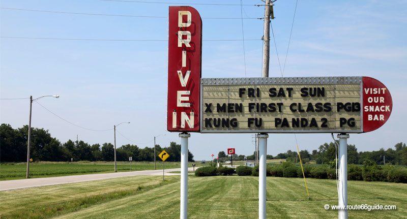 Route 66 twin drive in springfield il